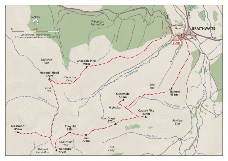 Coledale 10 Map