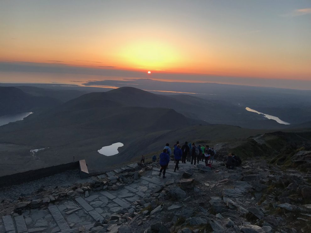 Group Snowdon Sunset Picture