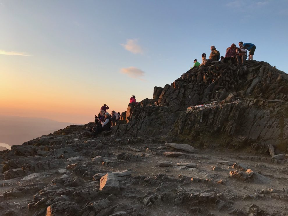 Snowdon Summit Sunset - Snowdon Moonlight Walk