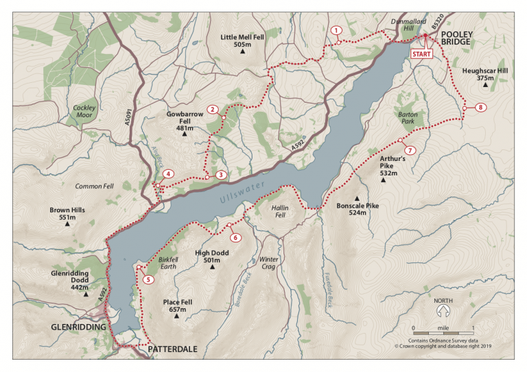 Ullswater Way Challenge Map