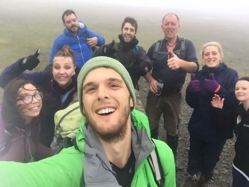 Final peak on the Yorkshire 3 Peaks