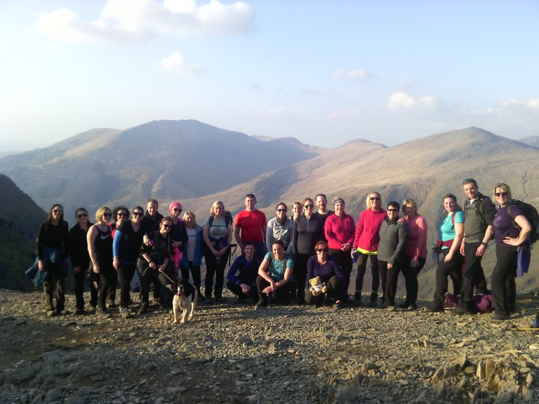 Snowdon Moonlight Walk Group - Glyderau View