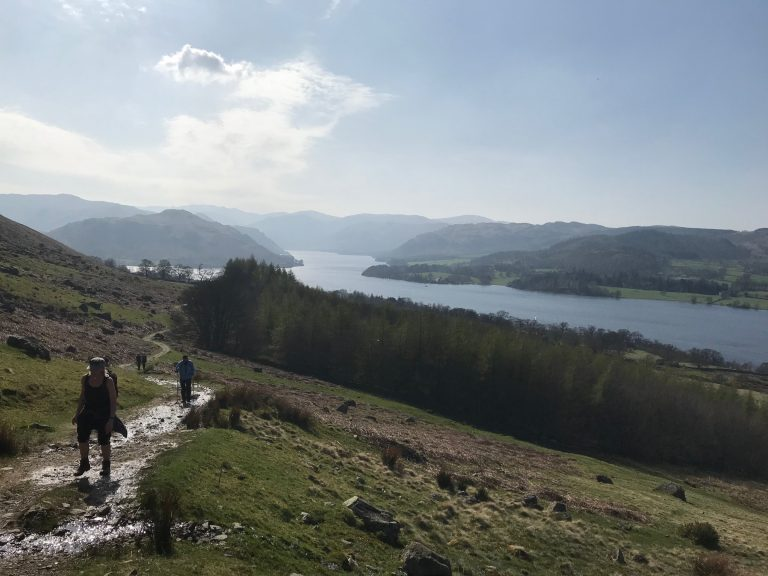 Ullswater on the Ullswater Way Challenge. Just 3-miles to go.