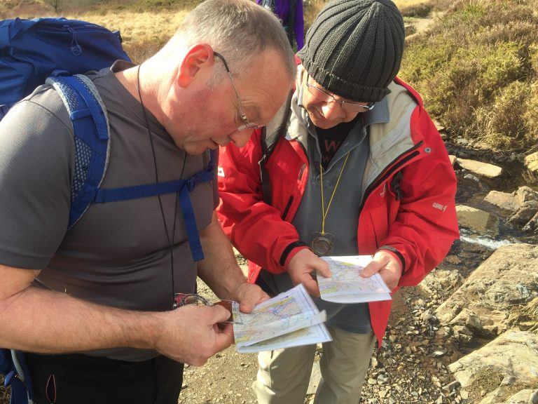 Learning navigation - map and compass skills
