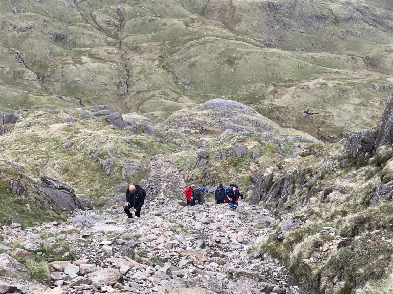 Scrambling on the Langdale Peaks