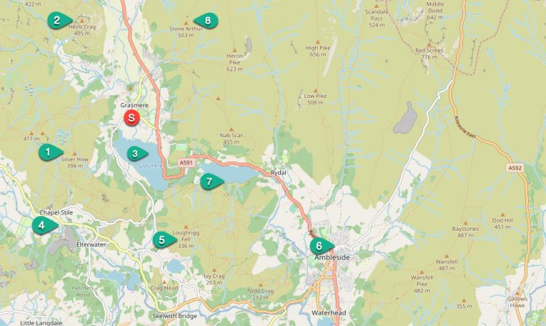 Grasmere walks map