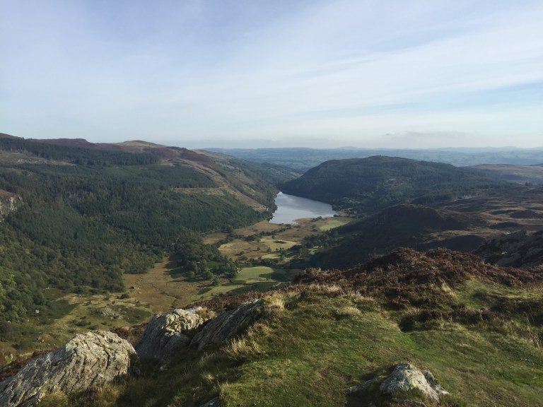 Llyn Crafnant from the summit of Crimpiau