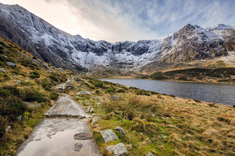 Devils Kitchen and llyn Idwal Snowdonia