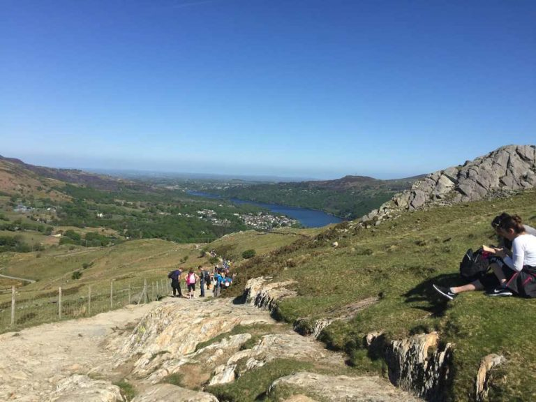 Llanberis Path descent, Snowdon, Snowdonia.