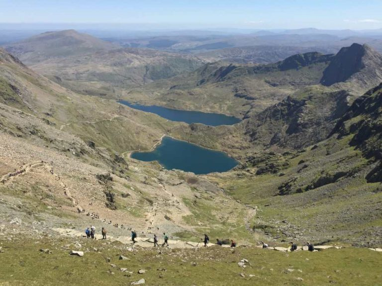 The view down to the Pyg Track from the top of the Llanberis Path