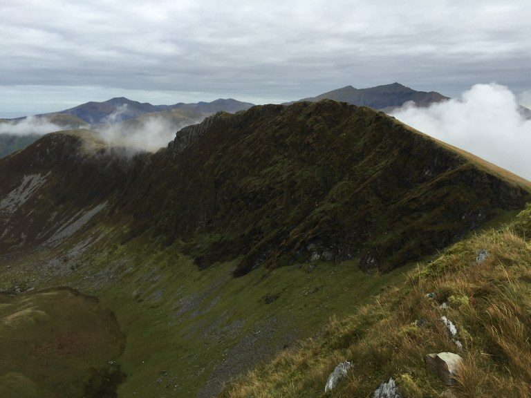 Looking over to Clogwyn Marchnad on Mynydd Drws-y-coed on the Nantlle Ridge