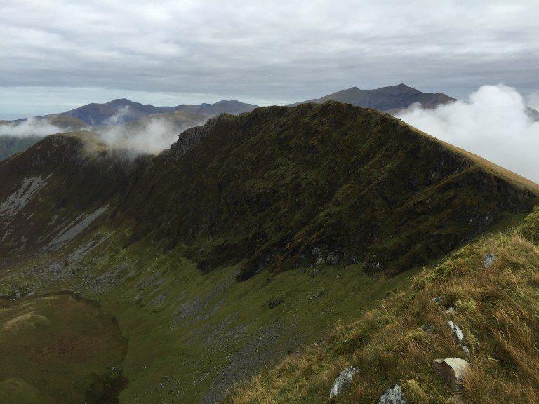 Looking over to Clogwyn Marchnad on Mynydd Drws-y-coed on the Nantlle Ridge