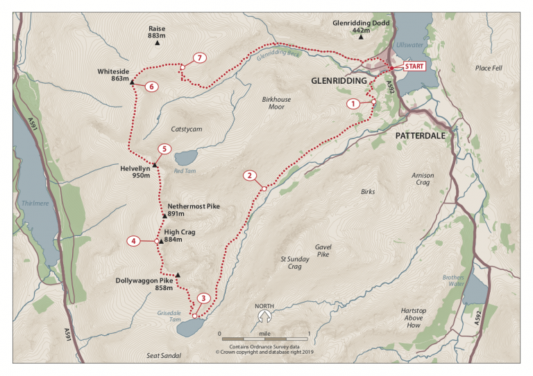 Helvellyn Moonlight Map