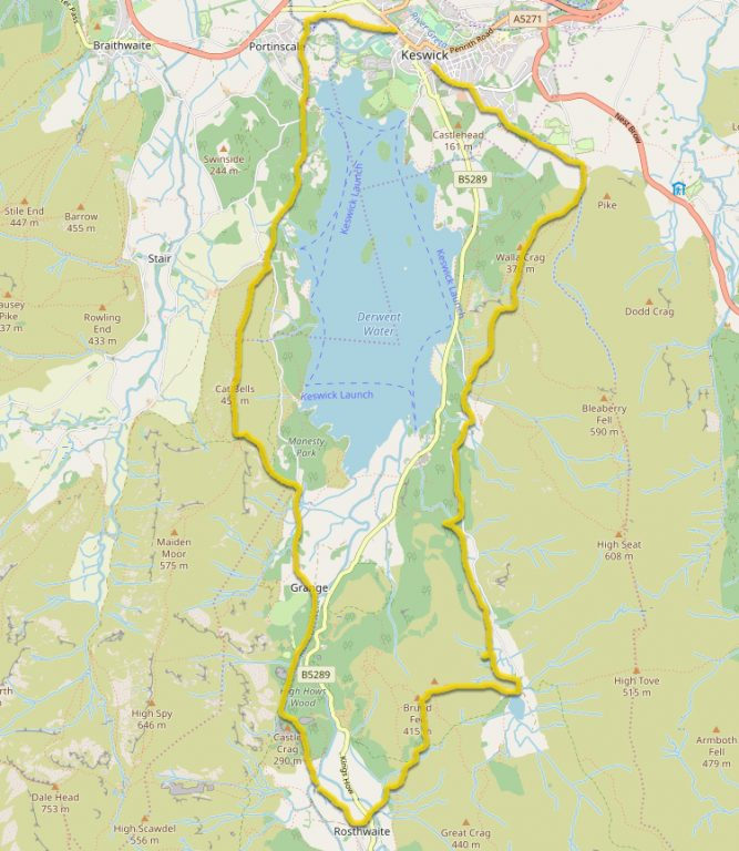 Discover Derwent Water Map